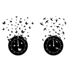 time and freedom vector image