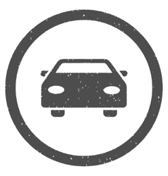 Car Icon Rubber Stamp vector image