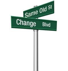 change and choose vector image vector image