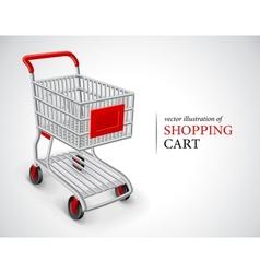 empty shopping cart vector image vector image