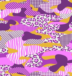 pink camouflage vector image