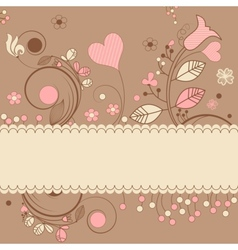 romantic gift card vector image vector image