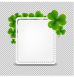 banner with green clover vector image vector image