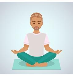 boy yoga vector image