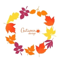 Collection of watercolor leaves vector image
