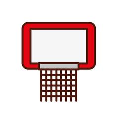 cute red basketball hoop vector image