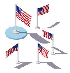 Isometric united states flag vector
