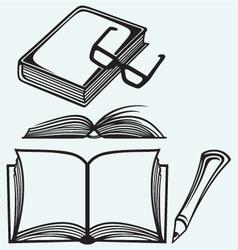 School textbooks vector image