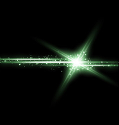 shining star with a stardust green color vector image vector image