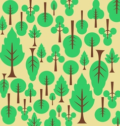 Background pattern tree For the fabric vector image vector image