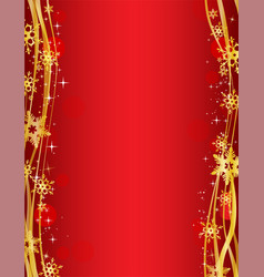 christmas party background with gold decorative vector image vector image