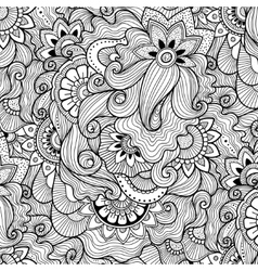 Floral background in zen-tagle style vector image vector image
