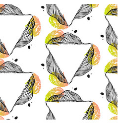 hand drawn abstract seamless pattern with vector image