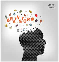 head brainstorm vector image vector image