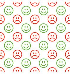 seamless emoji pattern vector image vector image