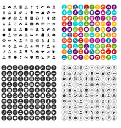 100 different professions icons set variant vector