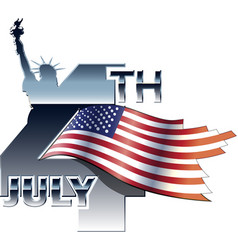 4th july independence day -3 vector image