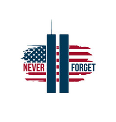 911 patriot day card with twin towers on american vector image