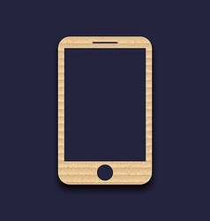 Abstract carton paper mobile phone with shadow vector