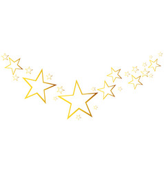 Abstract falling star with golden christmas vector