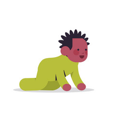 african american baby boy infant in yellow pajamas vector image