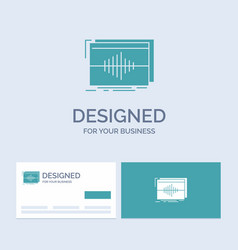 Audio frequency hertz sequence wave business logo vector