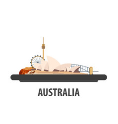 australia travel location vacation or trip and vector image