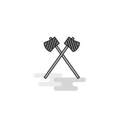 axe web icon flat line filled gray icon vector image