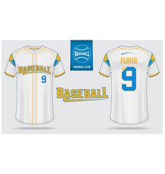Baseball jersey or raglan t-shirt sport template vector