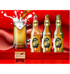 beer ads design three different types beer vector image
