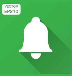 bell icon in flat style alarm with long vector image