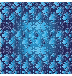 blue ottoman serial seamless pattern vector image