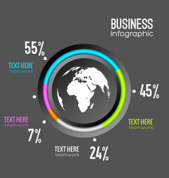 business infographic chart diagram vector image
