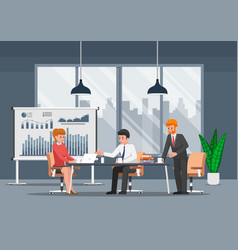 businessman working and in open space office vector image
