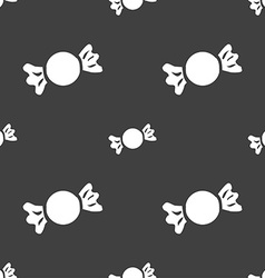 Candy icon sign seamless pattern on a gray vector