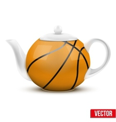 Ceramic Teapot In Basketball Ball Style Football vector