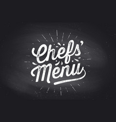 chefs menu cutting board lettering wall decor vector image