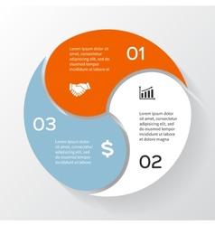 Circle infographic diagram presentation vector