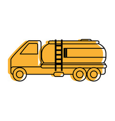 Cistern truck icon image vector