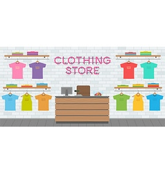 Clothing store interior vector