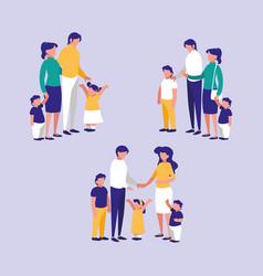 cute family members avatar character vector image
