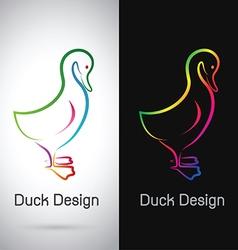 Duck design vector image