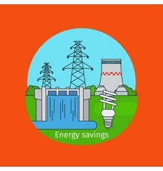 Energy savings concept with bulb vector image