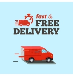 Fast delivery Typographic vector