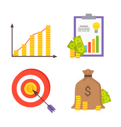 finance symbols collection vector image