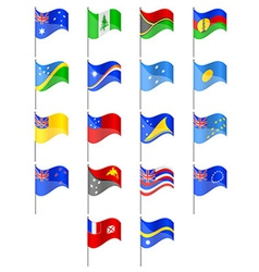Flags of Oceania countries vector