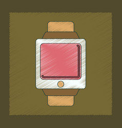 flat shading style icon digital watch vector image