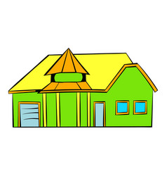 Green cottage icon icon cartoon vector