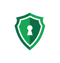 green shield guard lock logo icon concept vector image