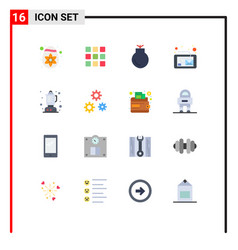 Group 16 modern flat colors set for kitchen vector